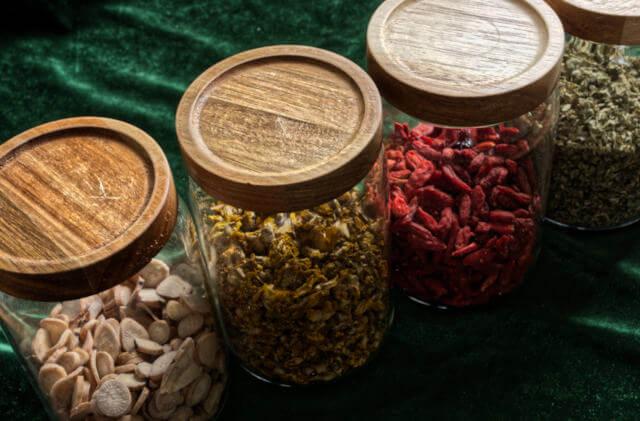 herbs jars